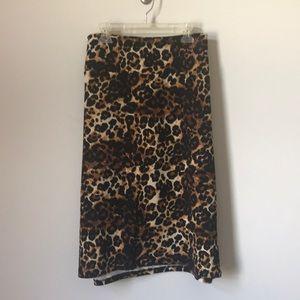 LulaRoe Cassie cheetah Leopard Pencil Skirt 3XL